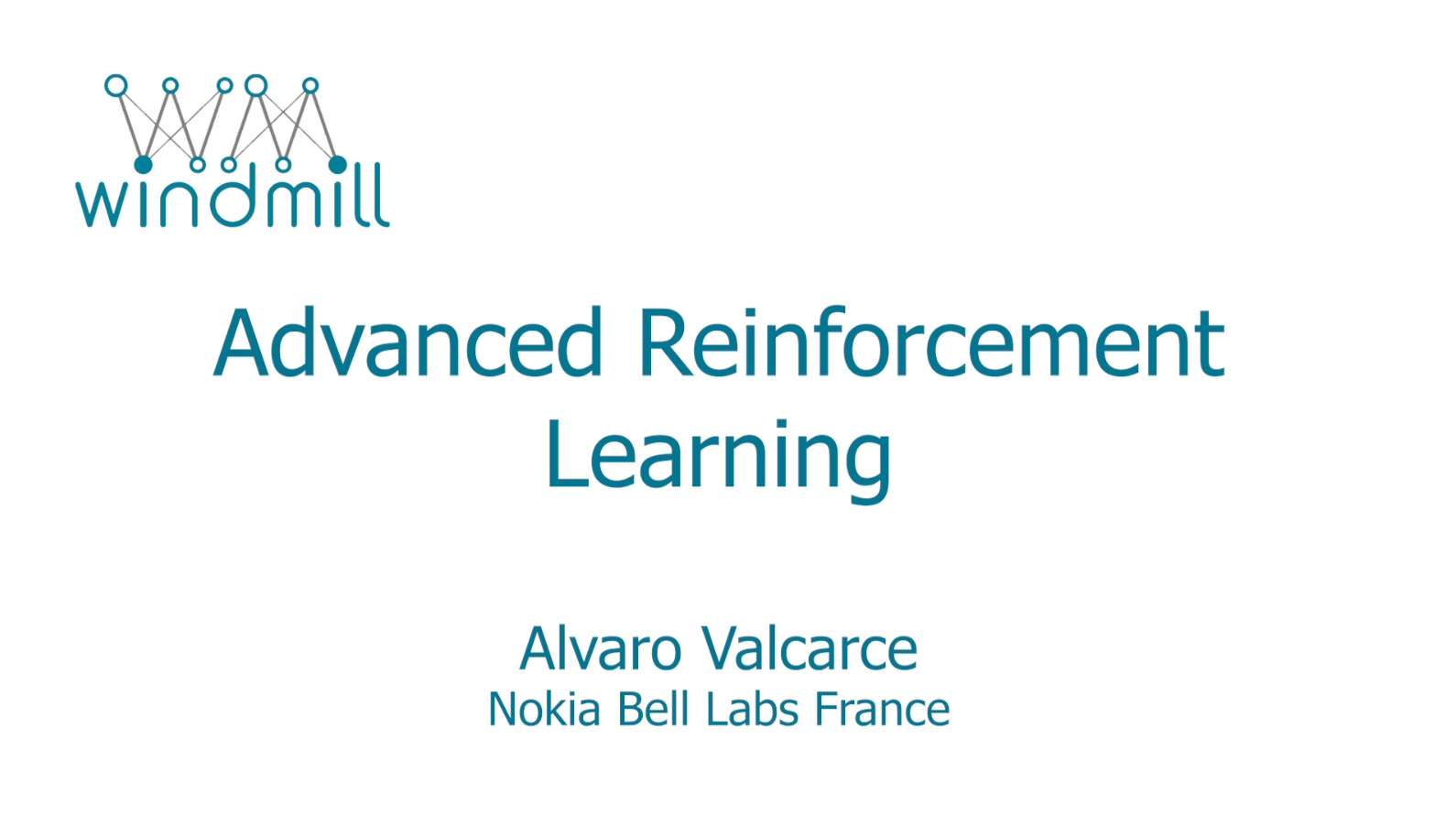 Advanced Reinforcement Learning
