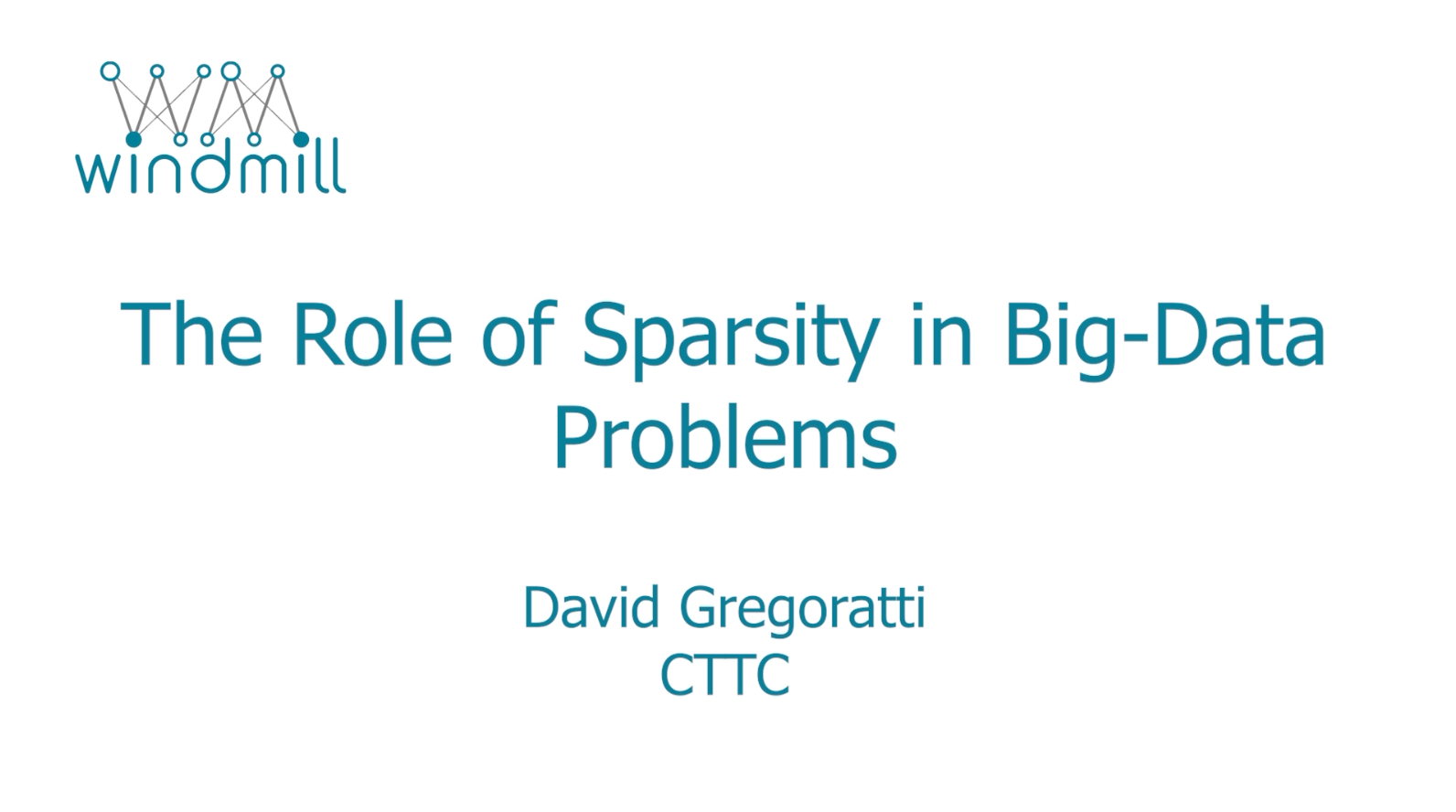 The Role of Sparsity in Big-Data Problems